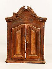 18th C. European Wood Wall Cabinet