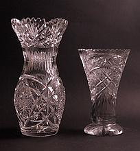 Lot of 5 Cut Glass Objects