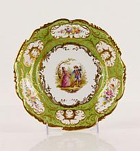 German Dresden Painted Plate