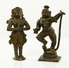 Two 17th C. Indian Bronze Figures
