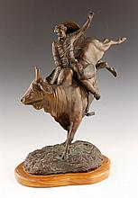 Regimbal, Bronco Rider, Bronze Sculpture