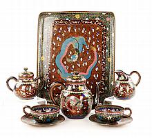 Chinese Cloisonné Tea Set
