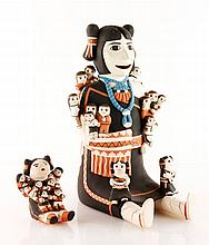 Two Cochiti Storyteller Dolls