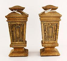 Pr. 19th C. Wood Finials