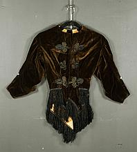 Victorian Brown Velvet Jacket