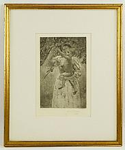 Davis, Engraving After Mary Cassatt