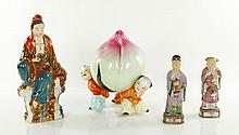 Four Chinese Porcelain Figures