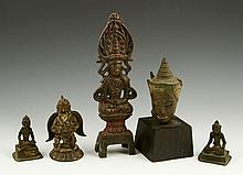 Five 17th C. Indian Bronze Figures
