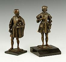 Two 19th C. Continental Bronze Sculptures