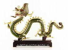 Chinese Republic Period Cloisonné Dragon