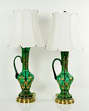 Pr. 20th C. Bohemian Jug Lamps