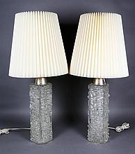 Pair of Modern Glass Lamps