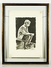 Seated Man, Lithograph