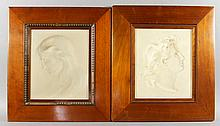 Pair of Brass Relief Plaques