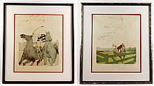 Lot of 2 Lithographs