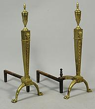 19th C. Federal Style Andirons