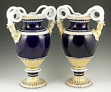 19th C. Pair Meissen Urns