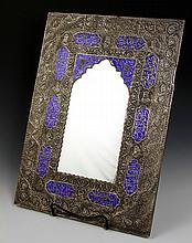 Islamic Silver Enameled Mirror