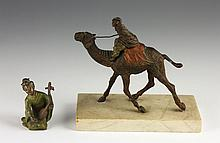 Two Vienna Cold Painted Bronze Figures