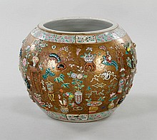 18th C. Chinese Famille Rose Fish Bowl
