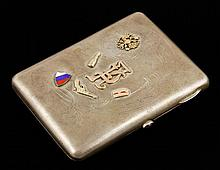Russian Silver and Gold Cigarette Case