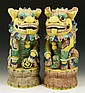 Chinese Pair Porcelain Foo Lions