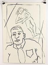 Attb. Haring, Figure, Ink Drawing