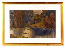 Bakst, Landscape, W/C