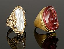 1 14K and 1 18K Gold Rings
