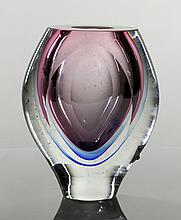 Mid C. Swedish Art Glass Vase