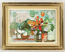 Gates, Abstract Still Life, Gouache