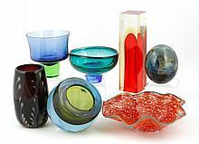 7 Art Glass Vessels