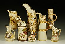 Collection of 8 Royal Worcester Ewers and Pitchers