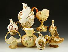 Collection of 8 Pieces of Royal Worcester Blush Ivory