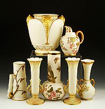 Collection of 7 Pieces of Royal Worcester Blush Ivory
