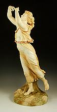 Monumental Royal Worcester Muse Figure