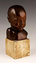 Carved Bust of a Baby
