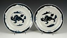 Pr. Chinese Blue and White Plates