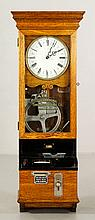 International Time Recording Co. Oak Clock