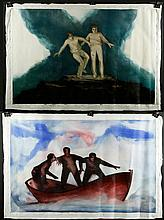 Jeswald, 2 Paintings, O/C