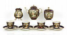 11 Piece Sevres Portrait Tea Service
