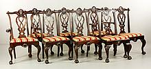 8 Carved Centennial Chippendale Dining Chairs