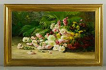 Palmer, Floral Still Life, O/C