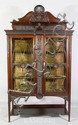 Heavily Carved Mahogany China Cabinet