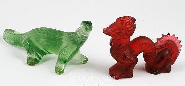 2 Lalique Komodo Dragons
