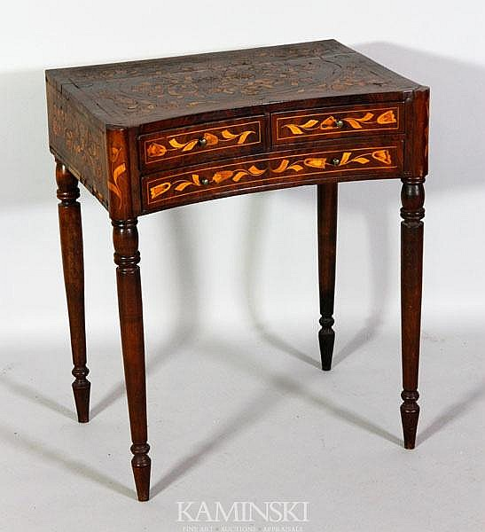 19th C. Dutch Marquetry Inlaid Table