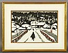 Saito, Winter Scene, Woodblock Print