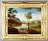 19th C. French Landscape, O/C