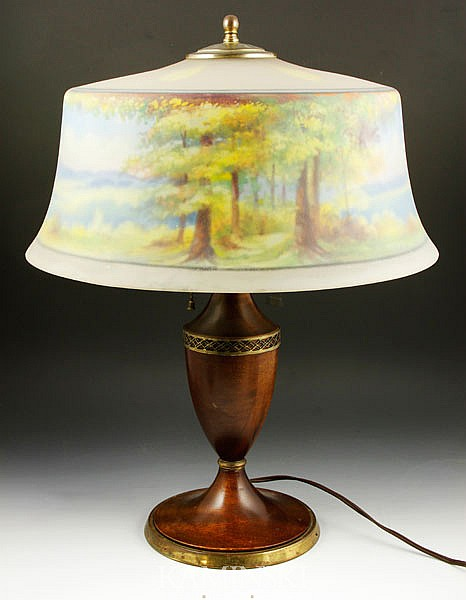 Pairpoint Reverse Painted Lamp