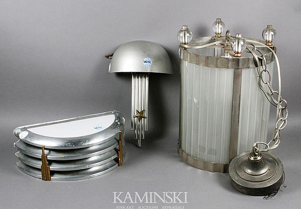 3 Art Deco/Machine Age Lamps